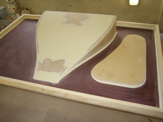 bygga form för glasfiber